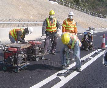 公路用道钉安装组织施工流程和方法