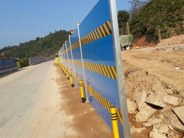 防护桩施工路段