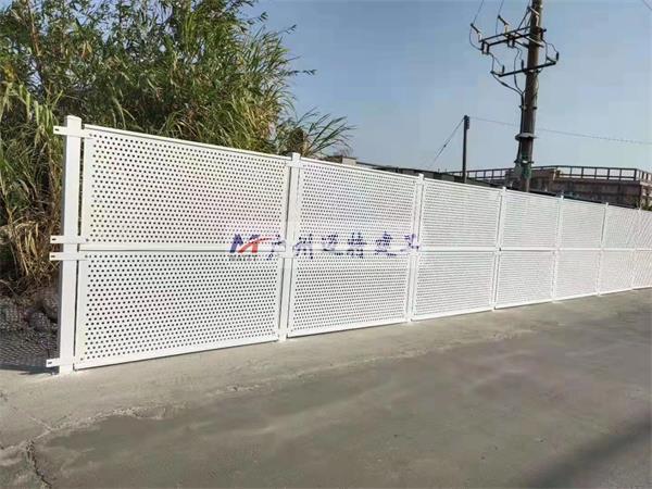广州装配式穿孔金属板围蔽A4
